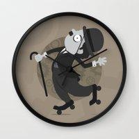 chaplin Wall Clocks featuring Chaplin by GARABATOS