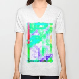 Re-Created Laurels XIV by Robert S. Lee Unisex V-Neck