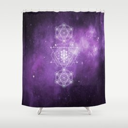 Sacred Geometry - We are Stardust Shower Curtain