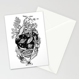 Cosmos Space Heart Stationery Cards