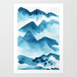 Mountain blue Art Print