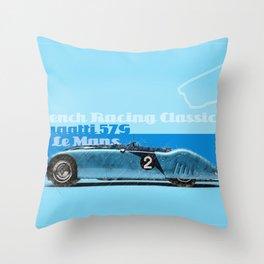 Le Mans Bugatt 57G Throw Pillow
