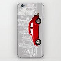 volkswagen iPhone & iPod Skins featuring red volkswagen  by Arefin