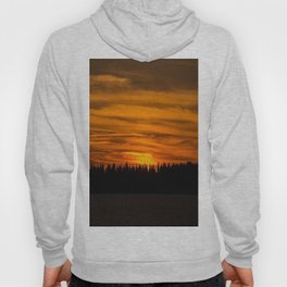 Cloudy Sunset With Forest Line - Scenic Landscape - #society6 #decor #buyart Hoody