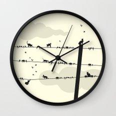 Cats and Birds Wall Clock