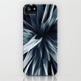 Perspective Facets-Retro Blue iPhone Case