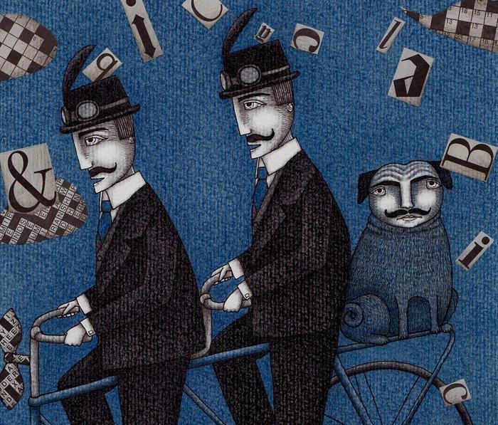Two Men Travelling Metal Travel Mug