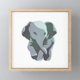 small elephant Framed Mini Art Print