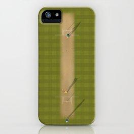 Cricket Match | Aerial Illustration iPhone Case