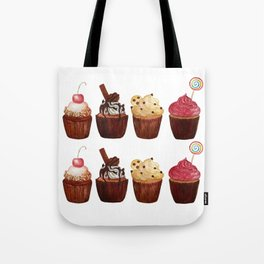 double row of cupcakes Tote Bag