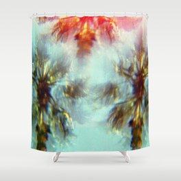 Egyptian Palm Trees Kaleidoscope Shower Curtain