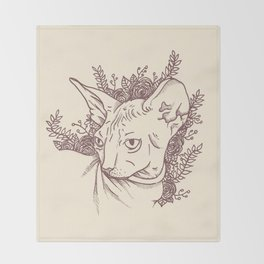 Sphynx Throw Blanket