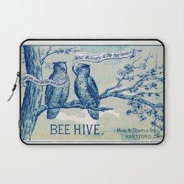 Vintage owl talk Laptop Sleeve