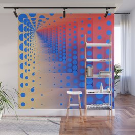 Mise en abyme 17 (recurring dots) Wall Mural