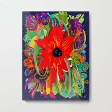 Beautiful flower art pattern decorative Metal Print