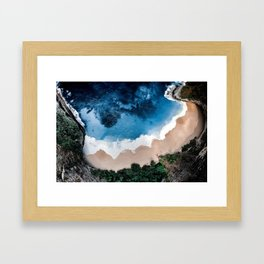 Beautiful beach Framed Art Print
