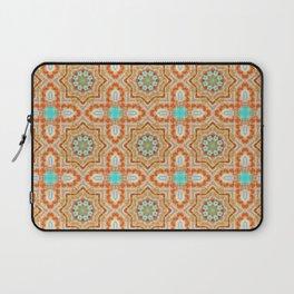 Orange kaleidoscope Star Laptop Sleeve