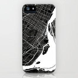 Montreal - Minimalist City Map iPhone Case