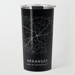 Arkansas State Road Map Travel Mug