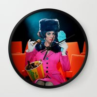 theatre Wall Clocks featuring Theatre Lady by Wanker & Wanker
