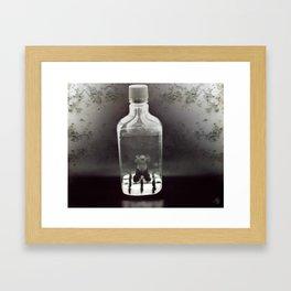 Stuck In a Hard Place | Bottle Framed Art Print