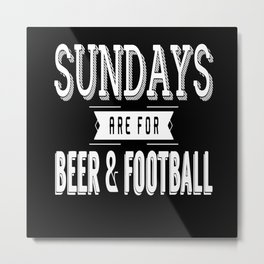 Football And Beer Metal Print