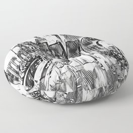NYC Black and White edit Floor Pillow