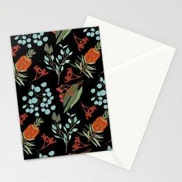 Australian Botanicals - Black Stationery Cards