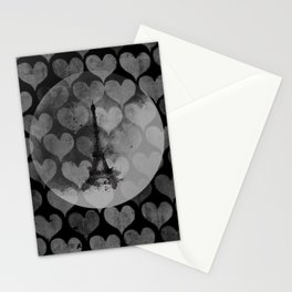 Paris in Hearts Stationery Cards