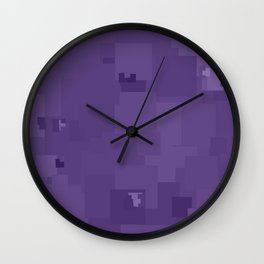 Imperial Palace Square Pixel Color Accent Wall Clock