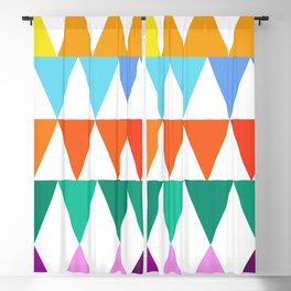 Triangles of Color Blackout Curtain