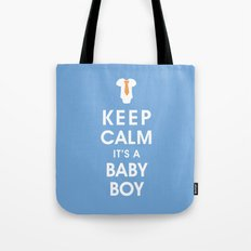Keep Calm It's A Baby Boy Tote Bag