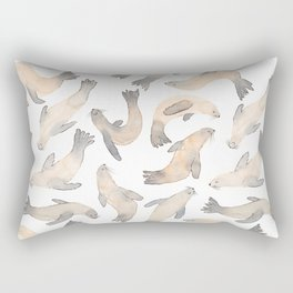 My Lips Are Seals Rectangular Pillow
