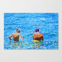Let's Snorkel  Canvas Print