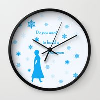snowman Wall Clocks featuring Snowman by BlackBlizzard