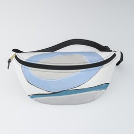 Three Blue Pebbles (Stack) Fanny Pack