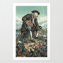 Gulliver and the Liliputians Art Print