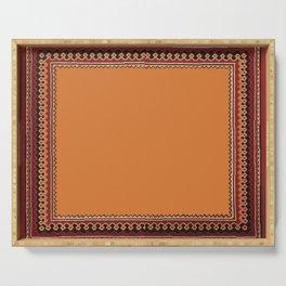 Persian Carpet Design Serving Tray