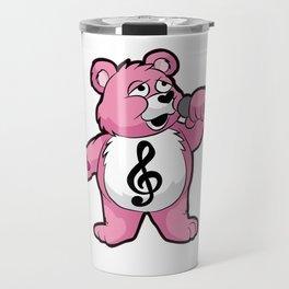 SINGING TEDDY Singer Chorus Acapella Microphone Travel Mug