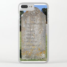 Grave 08 Clear iPhone Case