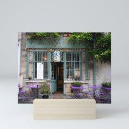 Quaint Paris Cafe Mini Art Print