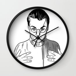 Would You Like To Touch My Monkey? Wall Clock