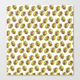 Butter Yellow Pansies Pattern Canvas Print