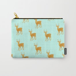 Deer. Mint and gold Carry-All Pouch