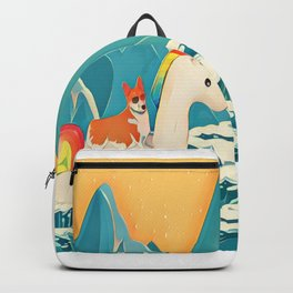 Corgi and the rainbow unicorn Backpack