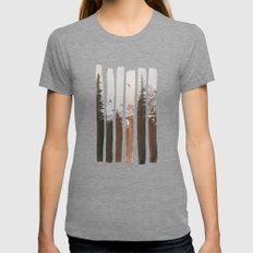 Into The Wild Tri-Grey Womens Fitted Tee MEDIUM