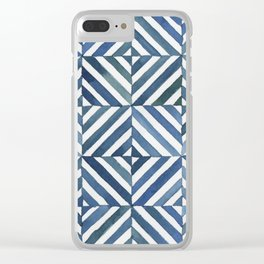 Square Stripes Clear iPhone Case