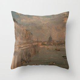 John Constable - Somerset House Terrace from Waterloo Bridge Throw Pillow