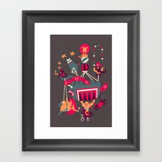Circus is coming Framed Art Print