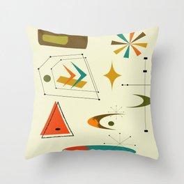 Mid Century Print Throw Pillow
